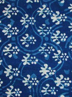 Block printed fabric.: