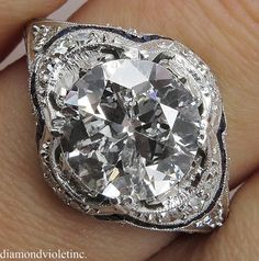 3.65ct Antique Vintage Late Edwardian/Early Art by DiamondViolet