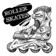 Find Rollerskates Sketch Vector Illustration Your Design stock images in HD and millions of other royalty-free stock photos, illustrations and vectors in the Shutterstock collection. Inline Speed Skates, Sister Tattoo Designs, Skate T Shirts, Skate Girl, Inline Skating, Drawing Quotes, Clothing Logo, Illustration, Instagram Logo