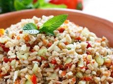 Farro with Feta Cucumbers and Sun-dried Tomatoes More