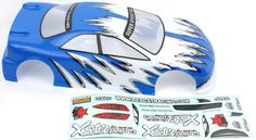 1/10 200MM ONROAD CAR BODY BLUE AND WHITE