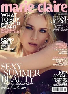 Diane Kruger for Marie Claire UK, August 2013.