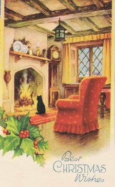 Antique Christmas, Modern Christmas, Vintage Christmas Cards, Retro Christmas, Christmas Pictures, Xmas Cards, Christmas Greetings, Christmas Traditions, Winter Christmas