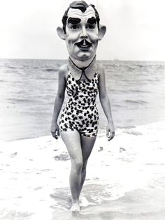 Clark Gable Mask, Venice Beach 1937    Love that it's 1937. Could be seventy years later.