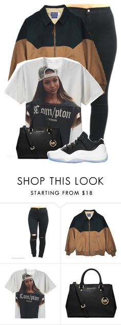 """Karrueche Compton"" by dajvuuloaf ❤ liked on Polyvore featuring MICHAEL Michael Kors and Retrò"