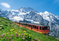 Swiss Alps train ride LG: started out in summer and ended up in winter!!!