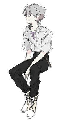 Art Anime, Manga Art, Manga Anime, Evangelion Kaworu, Neon Genesis Evangelion, Character Art, Character Design, Image Manga, Anime Style