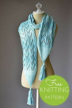 Water Ski Scarf Free Knitting Pattern