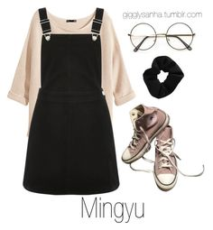 """Park Date // Mingyu"" by suga-infires ❤ liked on Polyvore featuring Converse, H&M, Oasis and Topshop"