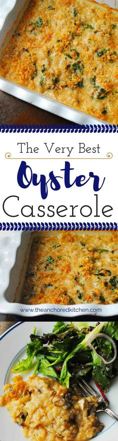 Oyster Casserole is a must have on our holiday table. It doesn't matter if we are having turkey or tenderloin, this is our must have dish.