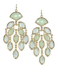 Gwen Chandelier Earrings in Light Blue Aster - Earring - Kendra Scott Jewelry