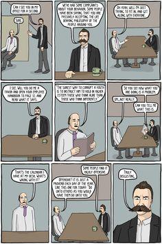 Existential Comics || Friedrich Nietzsche: Director of Human Resources