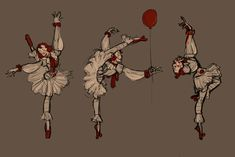 """littlekiwifrog: """"Ladywise the Dancing Clown! Pennywise would definitely learn different dance styles to match up with each of It's forms' aesthetics. Funny Horror, Horror Movies, Bill Skarsgard Pennywise, Le Clown, Pennywise The Dancing Clown, Action Poses, Studio Ghibli, Movies And Tv Shows, Fandoms"""