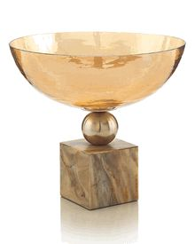 """Limited Production Design: Beautiful 14"""" Dia Mounted Luster Art Glass Bowl * Click Image For Full Screen View"""