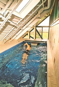 Tight space? No problem with the Endless Pool. Swim indoors year-round inside your home!