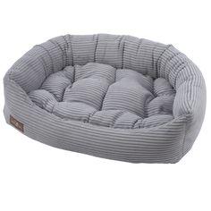 Jax and Bones Dove Grey Corduroy Napper Bed