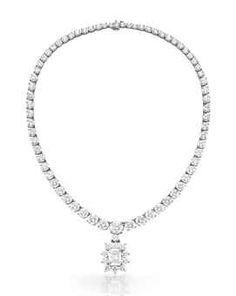 Diamond Necklace - Price Realized: $218,500
