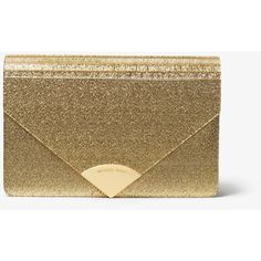 MICHAEL Michael Kors MICHAEL Michael Kors Barbara Metallic Envelope... (635 BRL) ❤ liked on Polyvore featuring bags, handbags, clutches, fold-over clutches, envelope clutch, party clutches, envelope clutch bag and lucite purse