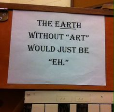 Saw this in my choir room at school! Pretty much the truth!