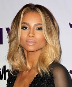 Ciara's wavy hair can be created using our midi head from our #3styler. As your blow-dry twist the hair round. www.hairphilosophers.com