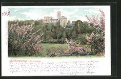 Aschersleben, Blick auf Villa Douglas (Postkarte 1900)