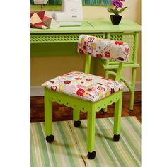 #HandiQuilter  Arrow 4004 Green Sewing Machine Cabinet Chair
