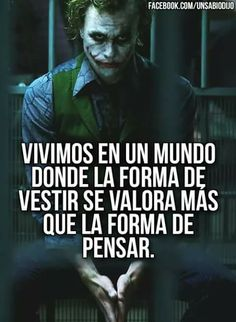 Joker Frases, Joker Quotes, True Quotes, Best Quotes, Funny Quotes, Joker Heath, Joker And Harley Quinn, Sad Love, Spanish Quotes