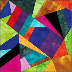 Complex Crazy Patch 12 Paper Foundation Piece Quilting Block Pattern PDF by HumburgCreations on Etsy
