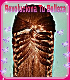 Peinado: Trenza Alas De Mariposa. primavera 2015 Girl Hairstyles, Braids, Dreadlocks, Hair Styles, Spanish Language, Beauty, Butterfly Hairstyle, Butterfly Braid, Butterfly Wings