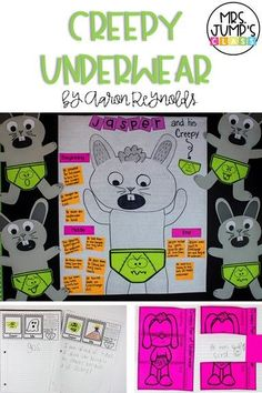Creepy Underwear Lesson Plans for the book by Aaron Reynolds includes reading activities, anchor charts, and a fun craft! These engaging lessons are perfect for kindergarten and first grade!