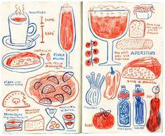 JooHee Yoon - JooHee Yoon Source by annegrit - Art And Illustration, Gravure Illustration, Food Illustrations, Sketchbook Cover, Arte Sketchbook, Molotow Marker, Joohee Yoon, Sketchbook Inspiration, Art Graphique
