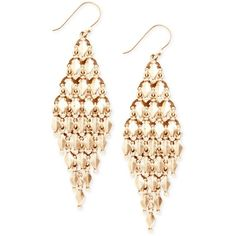 Lucky Brand Earrings, Gold-Tone Chandelier Earrings (60 BRL) ❤ liked on Polyvore featuring jewelry, earrings, accessories, brincos, jóias, earring jewelry, chandelier jewelry, chandelier earrings, goldtone jewelry and gold colored earrings
