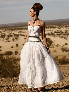 Alys Recycled Military Parachute Dress