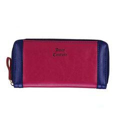Women Color Block Long Zipper Purse Wallet