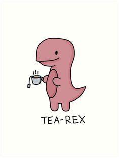 Porque a quién no le gusta una pequeña taza de té? • Millones de diseños originales hechos por artistas independientes. Dinosaur Drawing, Cartoon Dinosaur, Cute Dinosaur, Dinosaur Art, Mini Drawings, Cute Easy Drawings, Kawaii Drawings, Animal Sketches, Animal Drawings