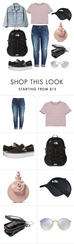 """""""Back To School Outfit #3"""" by armclean ❤ liked on Polyvore featuring Melissa McCarthy Seven7, Vans, The North Face, Valentino, NIKE, Ray-Ban and Gap"""