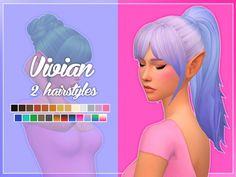 Vivian Hair (Bun   Pony) at Nolan Sims • Sims 4 Updates