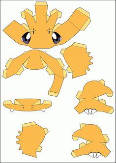 Papercraft Pokemon Templates Papercraft pokemon pikachu