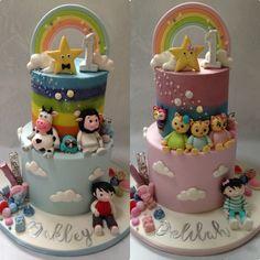 Baby First Birthday Themes, Baby Birthday Decorations, Boys 1st Birthday Cake, First Birthday Parties, First Birthdays, Fondant Decorations, Birthday Ideas, Smash Cake Girl, Girl Cakes