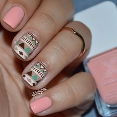 Light Pink & Nude Tribal Design