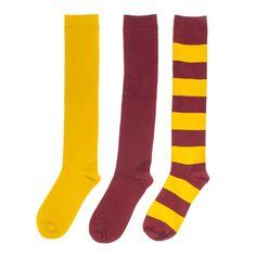 Maroon + Gold 3-Pack Knee-High Socks