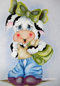 Resultado de imagen para vaca country pintado en tela