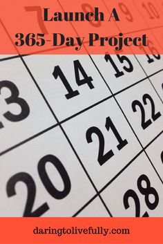 This year start a 365 day project -- choose something you're going to do every day of the year.