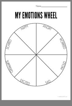 emotions wheel emotions wheel,Art Therapy wheel of emotions Counseling Activities, Art Therapy Activities, School Counseling, Social Work Activities, Counseling Worksheets, Emotions Activities, Therapy Games, Elementary Counseling, Elementary Art
