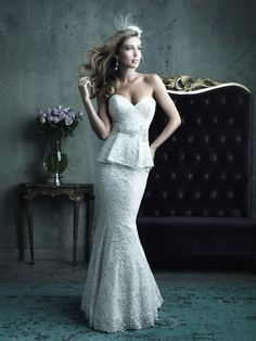 Allure Couture Wedding Dresses - Style C282 #peplum #wedding #dresses