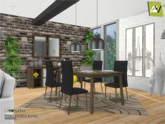 - Petra Dining Room  Found in TSR Category 'Sims 4 Downloads'