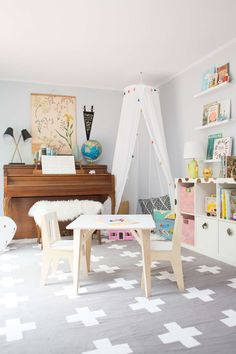 neutral shared playroom ideas