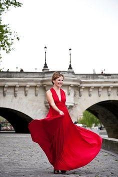 twobirds bridesmaid red dress