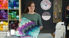 How to make a Bargello Block Quilt - YouTube