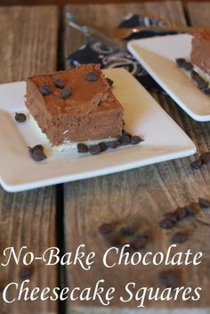 No Bake Chocolate Cheesecake Squares
